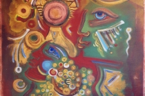 acrilic+oil on canvas – 2001 cm.100x100