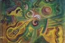 acrilic+oil on canvas – 2002 cm.100x100