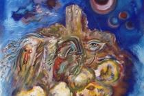 Acrilic + oil on canvas, 1961 cm.100X100