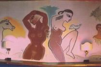 """I due mondi""- Large fresco inside a suite of Le Fabbre - Manciano (Grosseto), 2003"