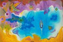acrilic + pastel 70x50 1964