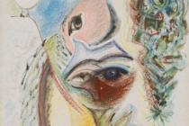 pastel+oil on cardboard 50x70 1971